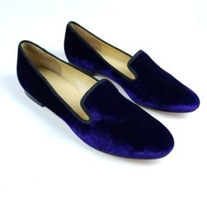 Cole Haan Women's Purple Sabrina Velvet Loafer